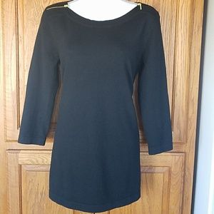 Black tunic sweater by Cable & Gauge small